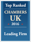 Top Ranked | Chambers UK 2015 | Leading Firm