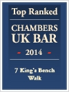 Top ranked Chambers UK Bar 2014