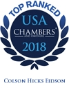 Top ranked in Chambers USA - 2018 - Colson Hicks Eidson