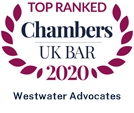 Top Ranked Chambers UK Bar 2020 - Westwater Advocates