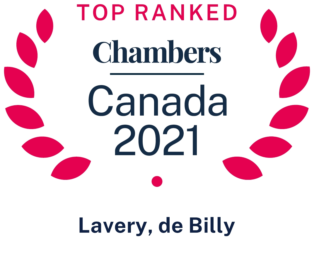 Top Ranked Chambers Canada Lavery Lawyers