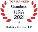 Top Ranked Chambers USA 2021 - Katsky Korins LLP
