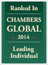 Casey Chisick Chambers Global 2014 Leading Individual badge