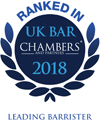 Ranked In – UK Bar Chambers 2018 – Leading Barrister