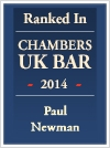 Paul Newman - Ranked in Chambers and Partners UK Bar Directory 2014