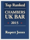 Jones, Rupert - Ranked In Chambers and Partners UK Bar Directory 2015