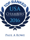 Paul A. Rowe Top Ranked in Chambers USA 2016
