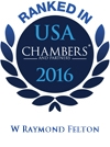 W. Raymond Felton Ranked in Chambers USA 2016