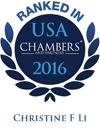 Christine F. Li Ranked in Chambers USA 2016