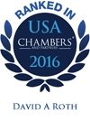 David A. Roth Ranked in Chambers USA 2016
