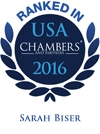 Sarah Biser Chambers USA 2016 badge