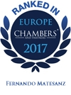 Ranked in Europe Chambers 2017