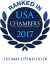 Thomas J. Denitzio, Jr. Ranked in Chambers USA 2017
