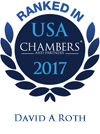 David A. Roth Ranked in Chambers USA 2017