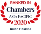 Julian Hoskins Ranked in Chambers Asia Pacific 2020
