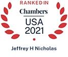 Chambers USA 2021 Logo Jeffrey H Nicholas